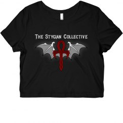 Stygian Collective Crop Top (White Lettering)