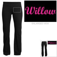 Willow, yoga pants
