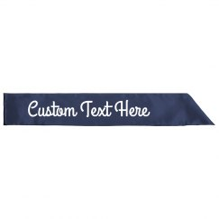 Customize A Birthday Sash