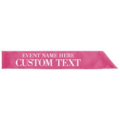Custom Event Prize Winner Sash