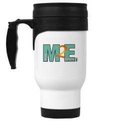 Move To Empower 14oz White Stainless Steel Travel Mug