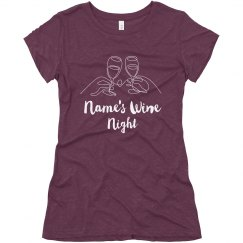 Custom Wine Night T-shirt