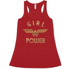 Gold Metallic Wonder Woman Girl Power