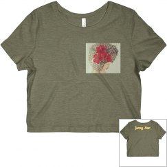 La Maga Mujer-PR State Flower Crop Tee