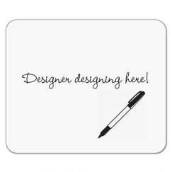 Designer Designing Here Mousepad - Pen Design