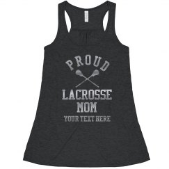Proud Custom Silver Lacrosse Mom