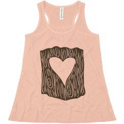 heart tree girls tee