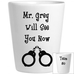 Mr. Grey Shot Glass