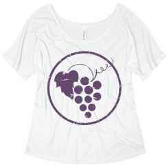Grapes distressed tee