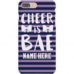 Custom Name Cheer Is Bae With Bows