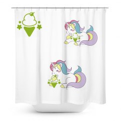 unicorn ice cream shower curtain
