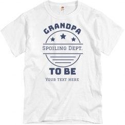 Grandpa To Be Custom Tee