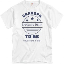Grandpa To Be Custom Tee