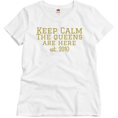 Keep Calm T gold