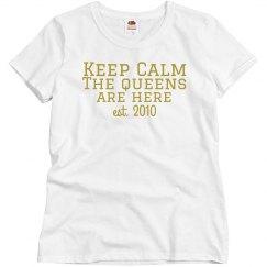Keep Calm T gold