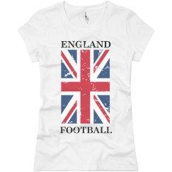 England Football with Big Flag