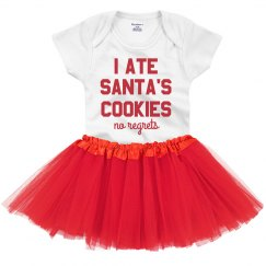 I Ate Santa's Cookies Funny Infant Tutu & Onesie