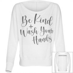 Wash Your Hands - Gray LS
