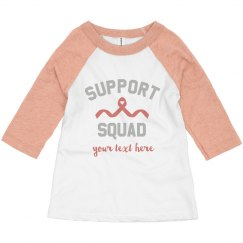 Support Squad Custom Text Tee