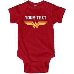 Wonder Woman Parody Baby Onesie