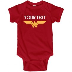 Wonder Woman Parody Baby Bodysuit