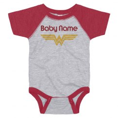 Custom Name Baby Wonder Woman Spoof