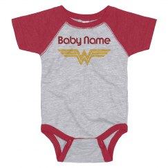 Custom Name Baby Wonder Woman Spoof
