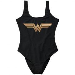 Gold Metallic Foil Wonder Woman
