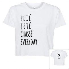 Juniors Flowy Crop T-Shirt