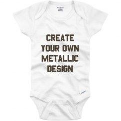 Custom Metallic Baby Onesie