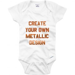 Custom Metallic Baby Onesie