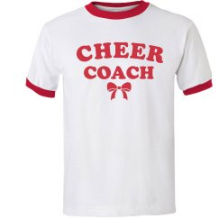 Cheer Coach Ringer Tee