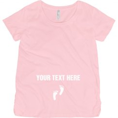 Your Text Baby Footprint