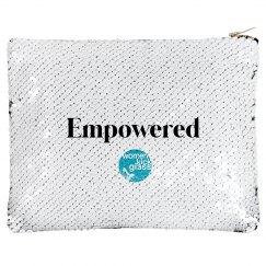 Women Kick Glass Empowered Makeup Bag