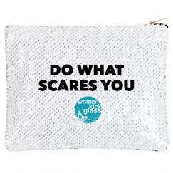 Do what scares you makeup bag