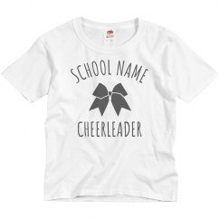 Custom School Cheerleader Tee