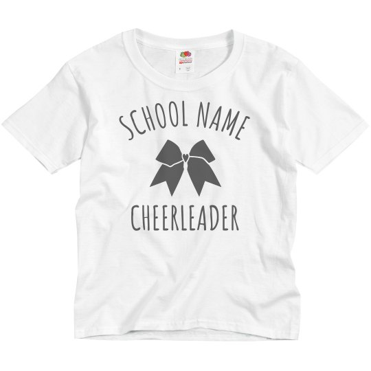 2677e22c1 Custom School Cheerleader Tee Youth Basic Promo T-Shirt