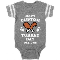 Custom Baby Turkey Day Text