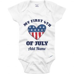 Custom Name My First 4th Of July