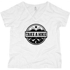 Take A Hike Curvy V-Neck