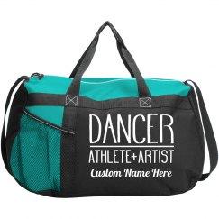 Custom Name Teen Dance Class Bag