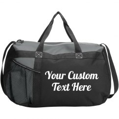 Custom Script Text Gym Workout Bag