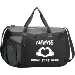 Custom Text Sport Girl Duffel