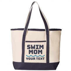 Swim Mom Custom Tote Bag