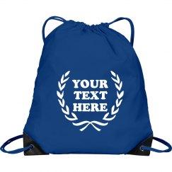 Your Text Design Drawstring Bag