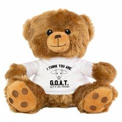 G.O.A.T. Promposal Bear