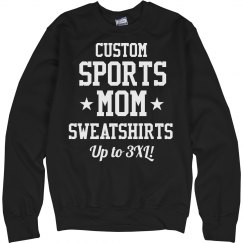 Custom Sports Mom Crew Neck