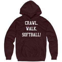 Crawl, walk, softball!