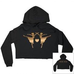 Custom Metallic Dance Crop Sweatshirt