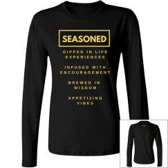 Seasoned Woman Long sleeve Blk/Yellow